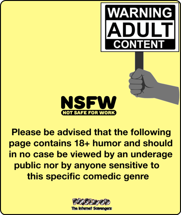 Adult content warning PMSLweb