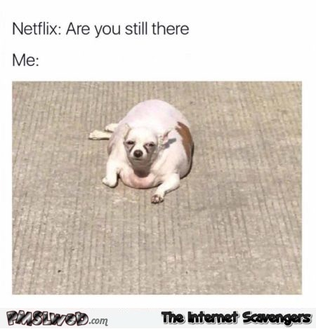 When Netflix asks if you are still there funny meme @PMSLweb.com