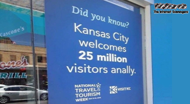 Funny Kansas city sign fail @PMSLweb.com