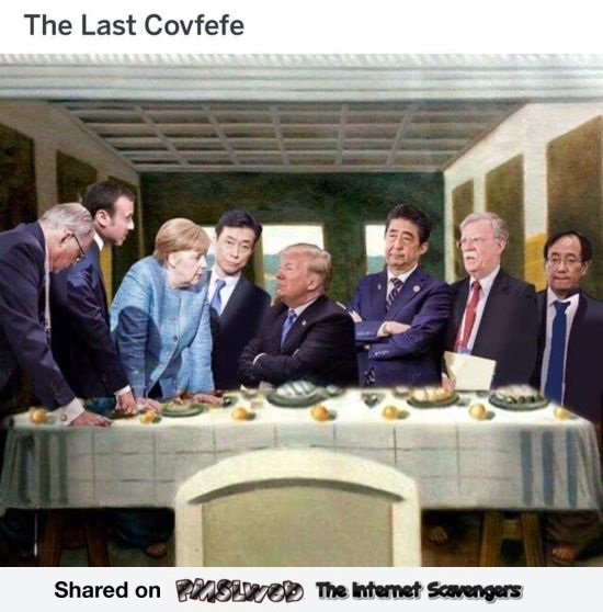 The last covfefe funny meme