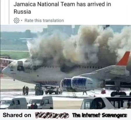 Jamaican football team arrived in Russia funny meme @PMSLweb.com