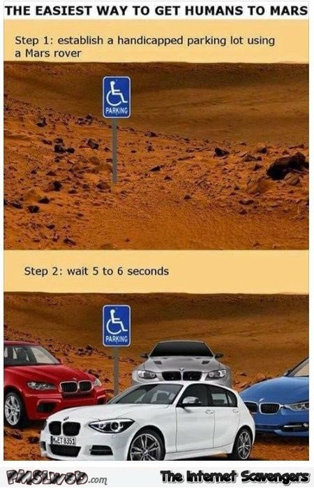 The easisest way to get humans to Mars funny meme