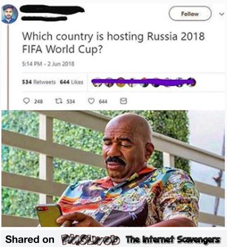 Which country is hosting 2018 Russia World cup funny fail @PMSLweb.com