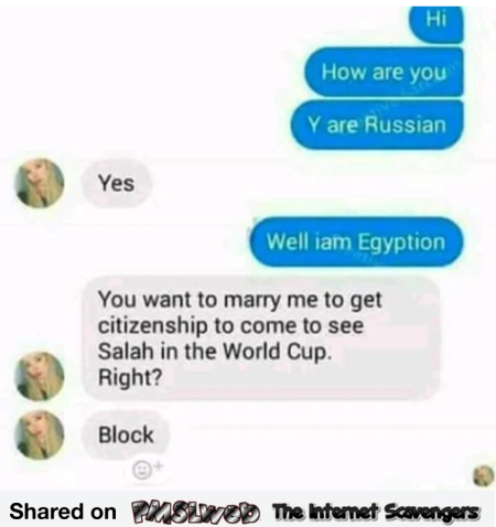 Egyptian wants to see Salah play in Russia funny text