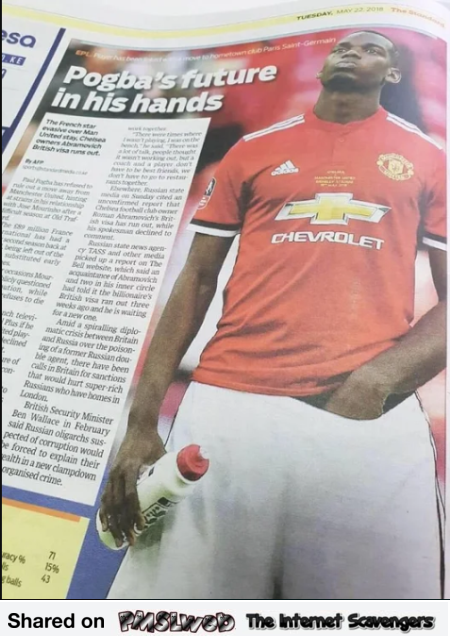 Pogba's future in his hands funny football news title
