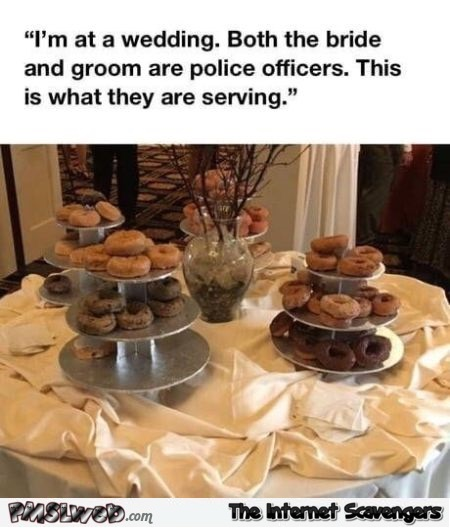 Both the bride and the groom are police officers funny meme