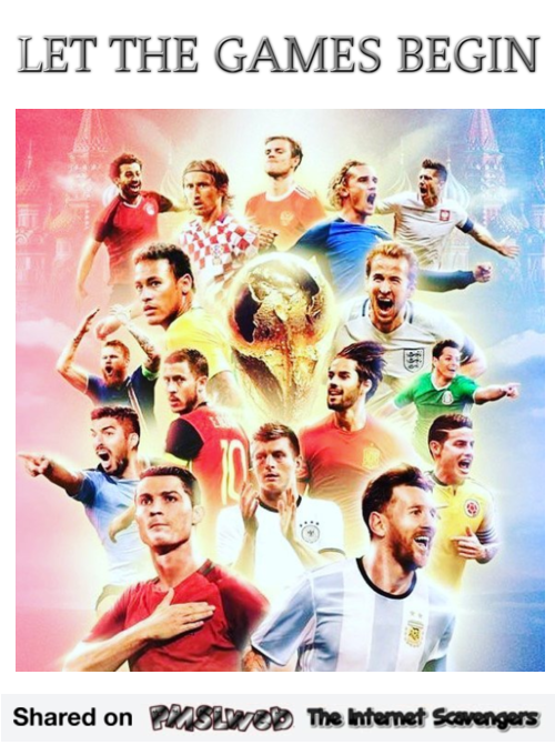 FIFA World cup let the games begin @PMSLweb.com