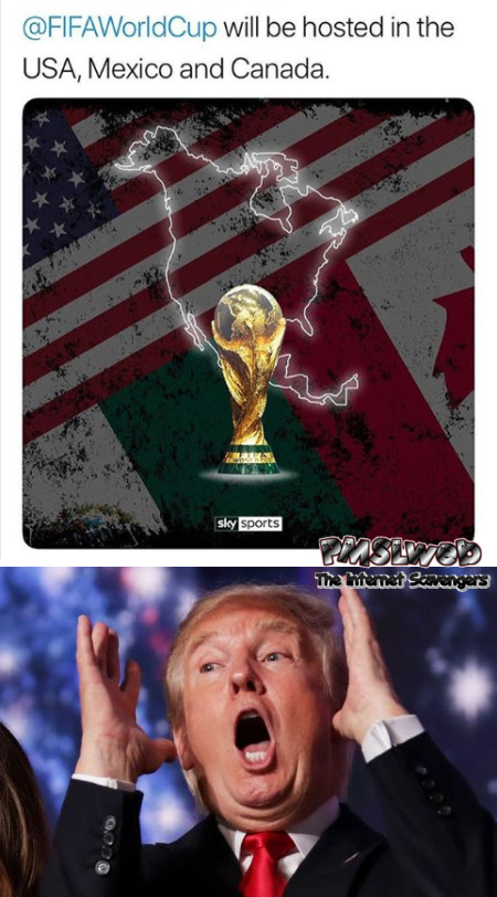 USA, Mexico & Canada to host 2026 World cup funny meme @PMSLweb.com