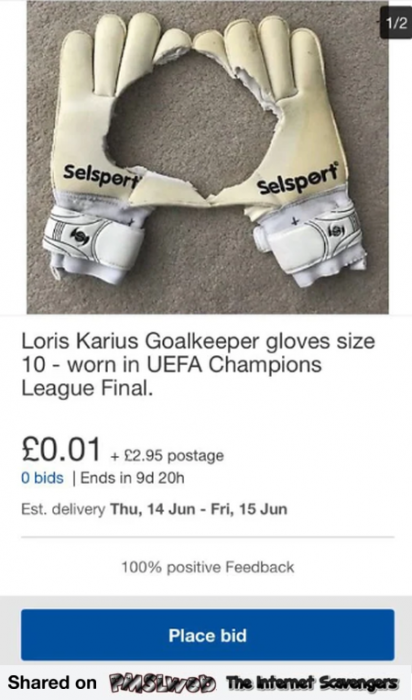 Loris Karius goalkeeper gloves are on sale humor