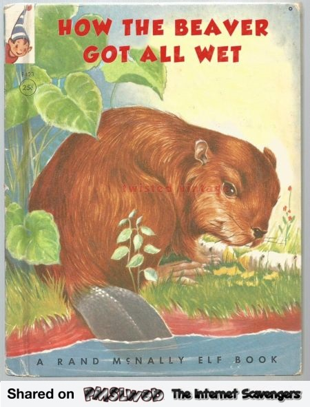 How the beaver got all wet funny book cover - NSFW humor @PMSLweb.com