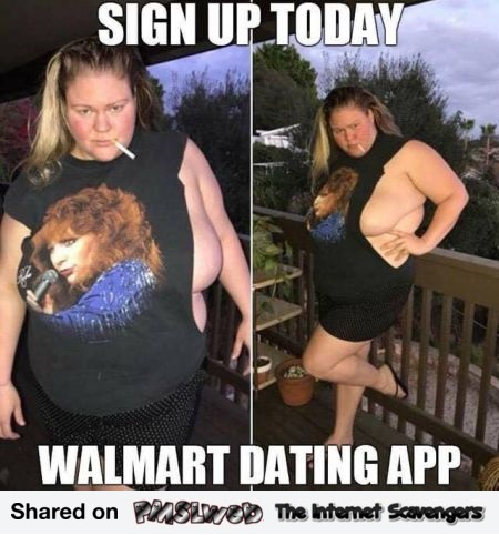 Funny Walmart dating app meme