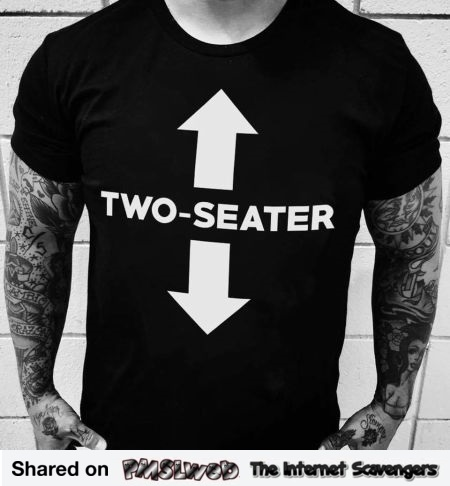 Funny naughty 2 seater t-shirt