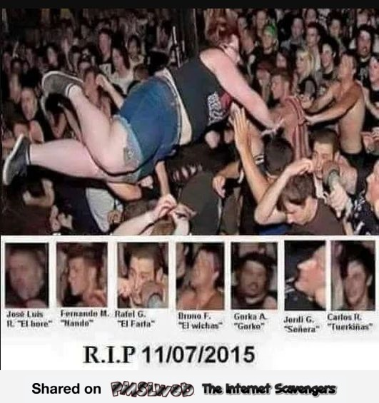 Funny rest in peace concert victims meme