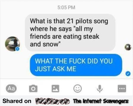 Funny 21 pilots song fail