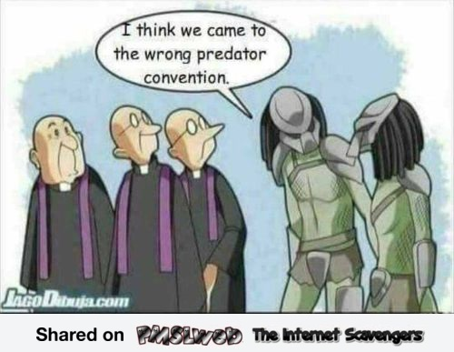 We came to the wrong predator convention funny cartoon