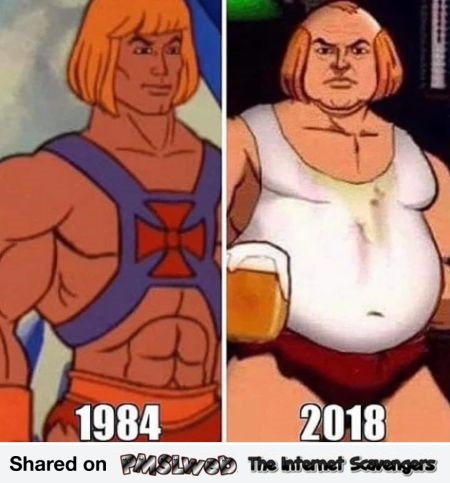 He-Man then versus now funny meme - Hilarious memes and pics @PMSLweb.com