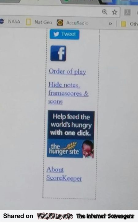 Funny Hunger site advert fail