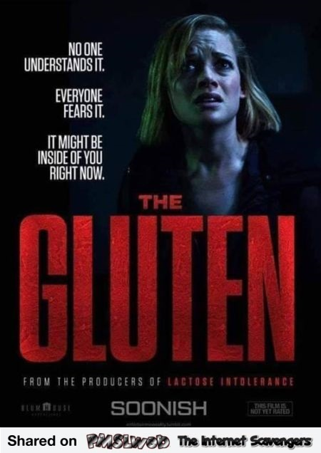 Funny the Gluten movie poster @PMSLweb.com